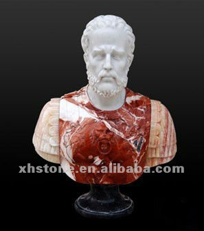marble carved bust statue,roman bust sculpture