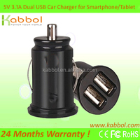 USB Car Charger 3.1a (15w) - Can Charge Multiple Devices Such As iPad, iPod, iPhone, GPS, Bluetooth Headset, Smart Phones, Table