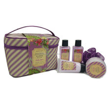 Best selling cosmtic bag lavender bubble bath spa gift set