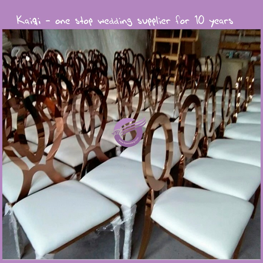 ZY00950 wholesale uk leather fabric wedding stainless steel chair
