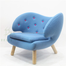 Relax Blue Fabric Pelican Chair with buttons