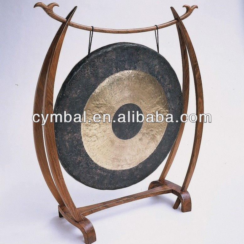 Desk top gong JSY-Percussion musical instruments traditional Chinese gong with wooden gong stand