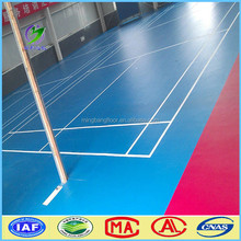 2016 indoor badminton court rubber pvc vinyl flooring