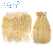 New York location hair supplier sew in human hair extensions blonde color