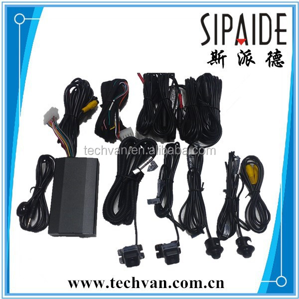 Monitoring 360 Degree Car Camera System , 4 Channel DVR For Car Parking,usb 2.0 dvr adapter 4 channel driver