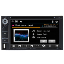 Beautiful UI 6.2 Inch Universal Double Din Car DVD/USB/SD Player HD Multimedia Bluetooth Radio Entertainment