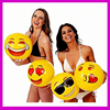 "2016 Hot Selling 12"" Emoji Beach Ball, Quality Cheap Factory Price Inflatable Beach Ball With Different Models"