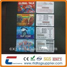 prepaid international calling card with scratch off panel