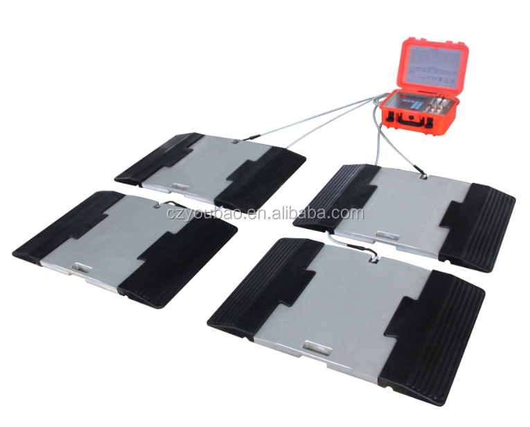 portable wheel load cell pads scales