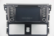 7 inch car dvd player for Toyota 2013 VIOS car central media 2 din car gps player with GPS DVD USB/SD FM/AM BT SWC EQ 3G Wifi