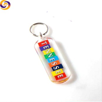 Tennessee Atlanta Destin Hawaii tourism souvenir acrylic photo frame keychain key ring