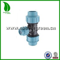 PP Equal Tee water Compression Fittings