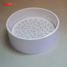 Wash basin solid surface as corians, resin stone basin for bathroom project