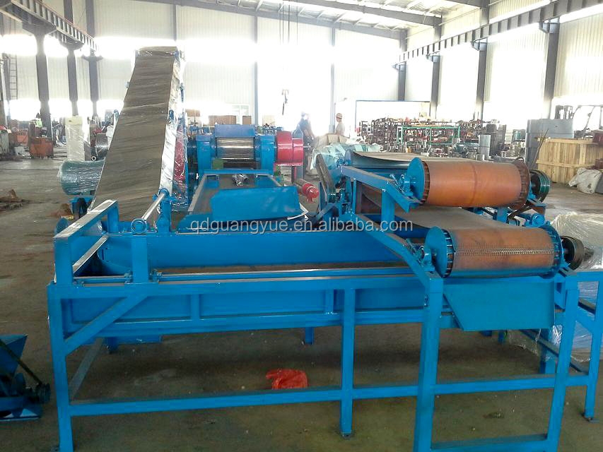 Reclaimed Rubber Production Line / Used tyre cutting machine
