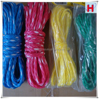 different size and color ski braid rope/hollow braided poly rope