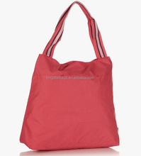 Orange Core Polyester Fabric China Shopping Bag