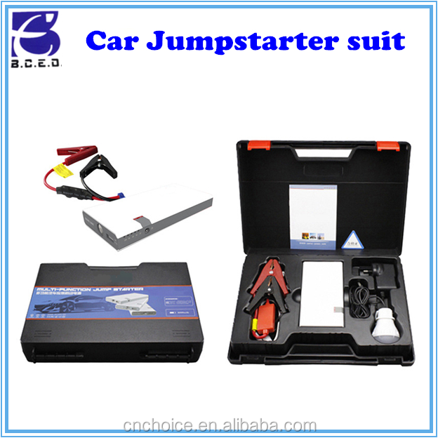 12-Volt portable car jump starter booster battery charger power bank vehicle electric emergency kit