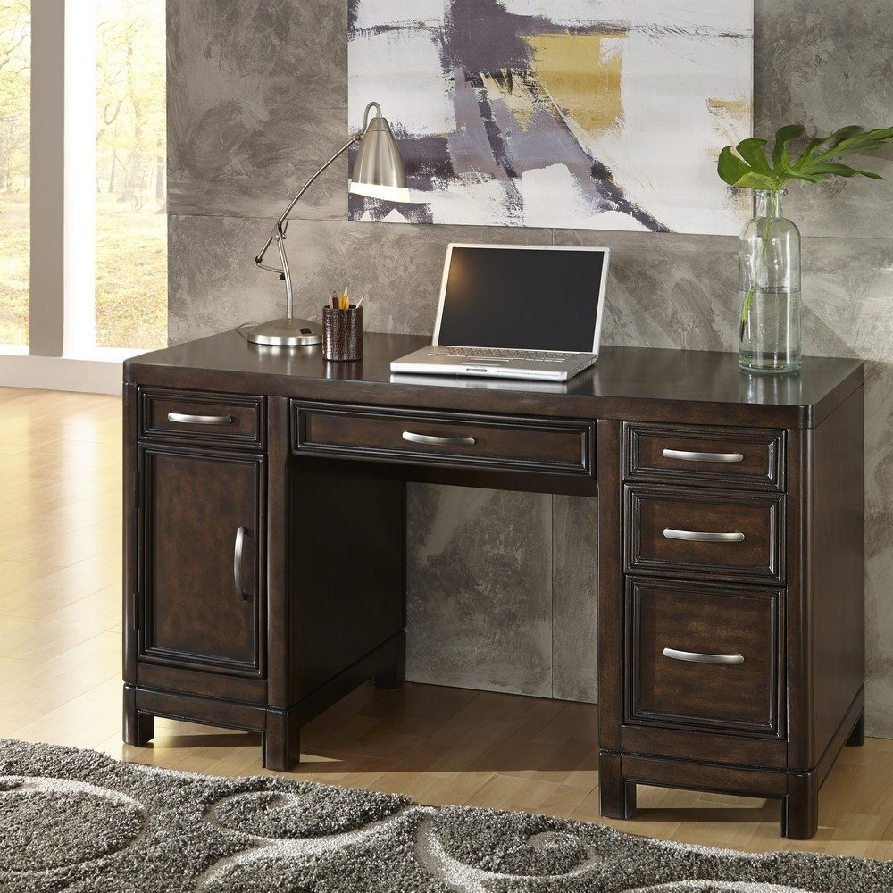 Top quality modern solid wooden executive office desk with storage
