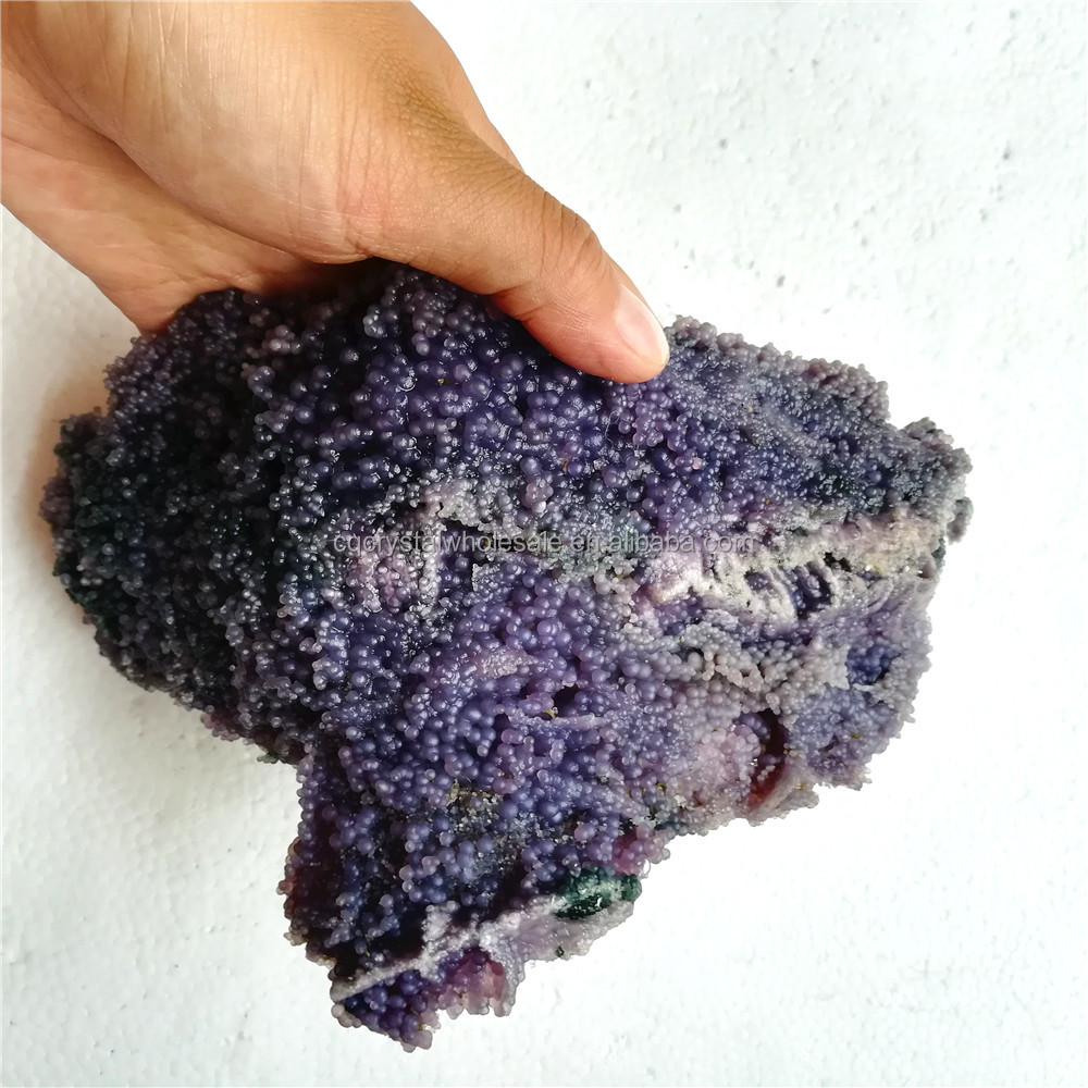 Wholesale Natural Purple Small Grape Agate Mineral Ornament crystal stone Gift Gemstone Ornament
