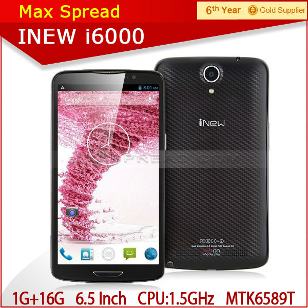 "inew i600 with 6.5""MTK6589T quad core 1920X1080p 1.5ghz android 4.2 2gb ram 32gb rom 3150mAh 13.0MP original cellphone"