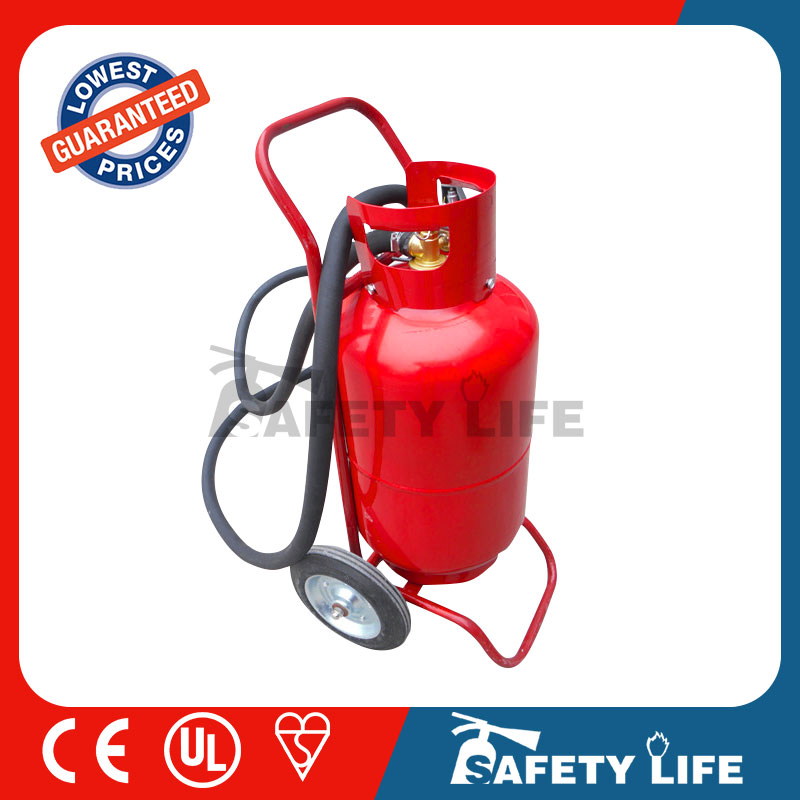 25kg trolley dcp fire extinguisher /fire extinguisher cart