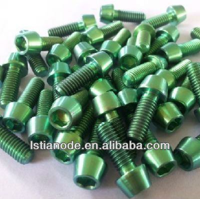 color titanium bolt for bicycle