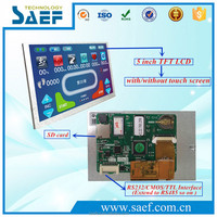 5 inch TFT LCD Display Module with Driver + CPU + Program + Touch Screen + RS232