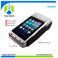 wireless mobile payment touch nfc terminal pos with thermal printer 58mm for magnetic card data collector