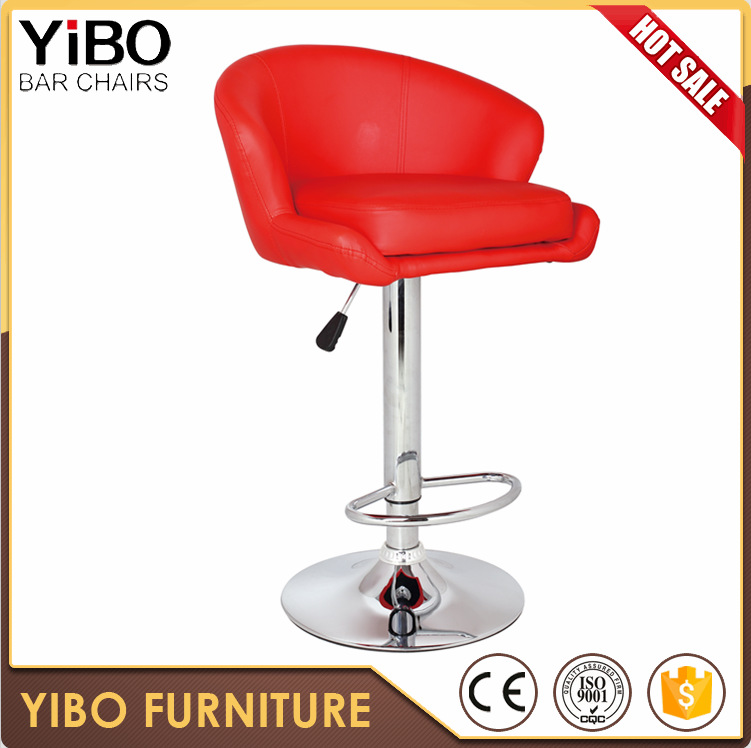 China pu modern new design italian leather bar stool high back simple dining room