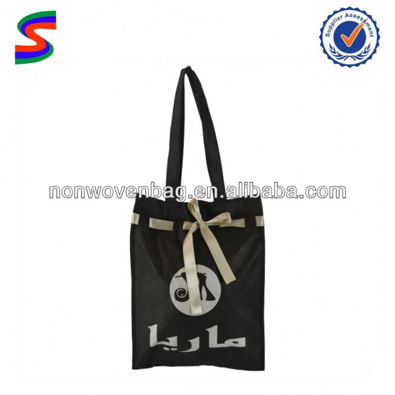 Coated Non Woven Polypropylene Bags Non Woven 4 Bottle Wine Tote Bag