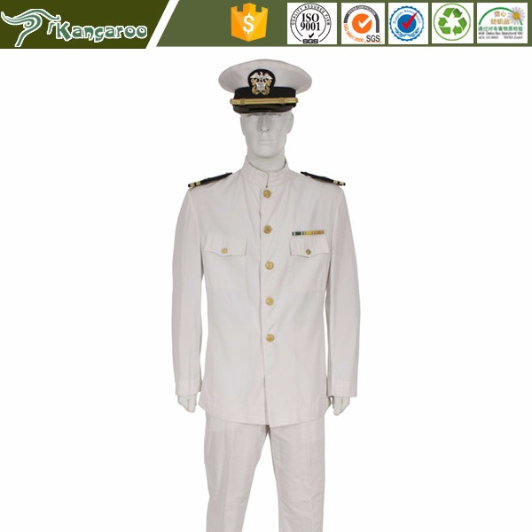 KU007 Carmy Merchant Scottish New Navy Officer Dress White Army Uniform Pattern