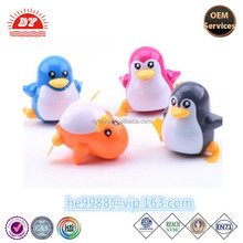 Custom plastic law type walk cute little penguin toy