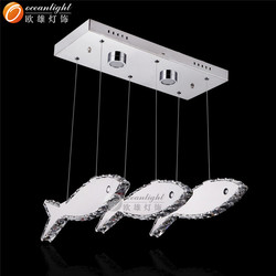 fish shape led crystal pendant lamp contemporary OM99026