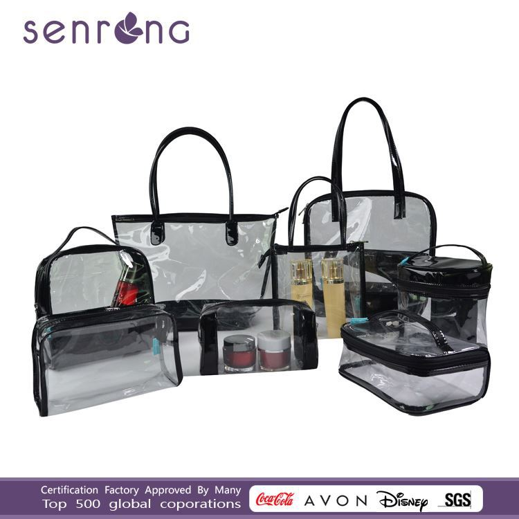 plastic cosmetic bag hard case cosmetic bag