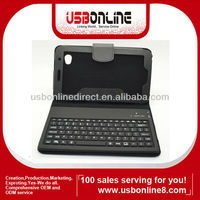 "Hotselling Bluetooth keyboard for samsung 7"" galaxy tab with folding leather protective case"
