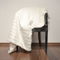 High quality large solid knitted adults fleece blanket mora blanket spain