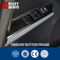 Stainless Steel Window Button Frame Trim Cover For Toyota For RAV4 2013 Interior Chrome Widow Switch Control Trim For RAV4 2015