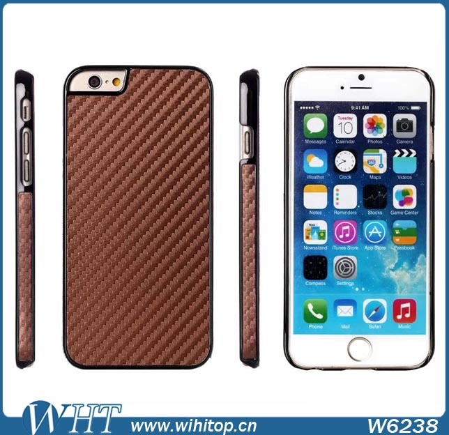 Hot New Products PC Carbon Fiber Case for iPhone 6, Chrome Case for iPhone 6, for iPhone6 Case