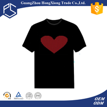 2016 promotion cheap wholesale 100% cotton led lighting short sleeve kids t-shirt