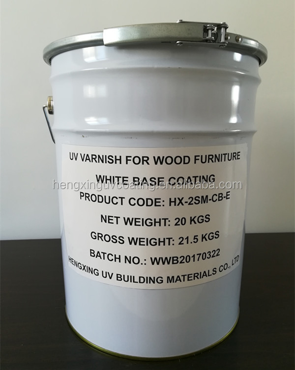 UV Varnish white base coating for wooden furniture