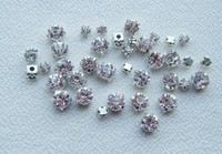 SS16(4mm) Fancy 888 stones Silver clear Loose Crystal Sew On Rhinestone claw Metal Findings for rhinestone wedding applique