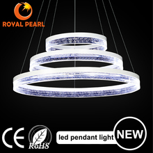 new modern hanging light 3 rings led pendant light change color with remote control pendant lamp