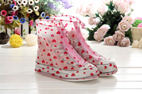 Hot sale top quality flat half knee natural children rubber rain boots