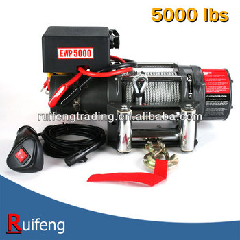 12V or 24V electric winch 5000lbs