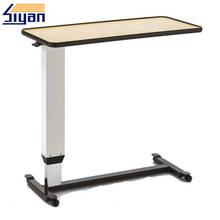 foldable and movable hospital bed dining table