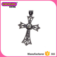 Boosin Manufacturer cross charms Plating black antique reproduction jewelry,wholesale jewelry