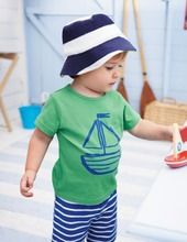 Summer Baby Toddler Kids Boys Casual Sailor Suit Tops T-shirt Pants Outfits UK