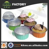 FDA approval 125ml non-stick aluminum foil disposable round muffin baking pan