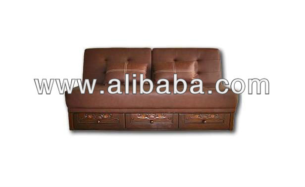 Luxury Teak Wood Living Room Sofas ( 3 Drawers )