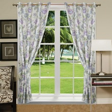 2016 latest curtain styles grommet 100% polyester office curtains